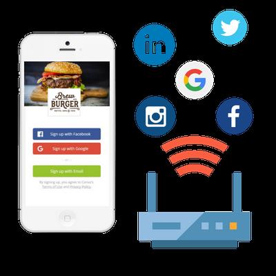 Social WiFi Logins for restaurants